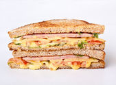 Sandwich on toasted bread — Stock Photo