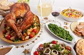 圣诞餐桌 — 图库照片