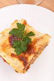 Classic beef lasagna — Stock Photo