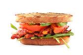 Bacon, lettuce and tomato BLT sandwiches — Foto Stock