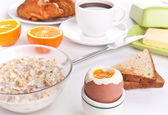 Tasty and nutritious breakfast meal — Stock Photo