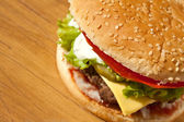Delicious cheeseburger — Stock Photo