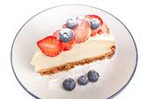 Slice of cheesecake — Stock Photo