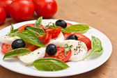 Classic caprese salad — Stock Photo