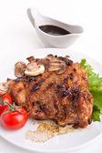Pork chop with mushrooms — Foto Stock
