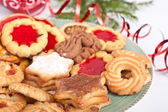 Pile of various christmas  cookies — Stock Photo