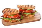 Two BLT sandwiches — Stock Photo