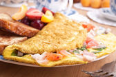 Omelette close up  — Stock Photo
