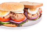 Tuna and egg sandwiches — Stock Photo