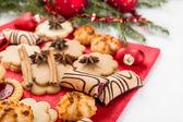 圣诞饼干和装饰 — 图库照片