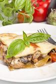 Piece of classic lasagna — Stock Photo
