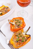 Peppers stuffed with cheese — Stock Photo