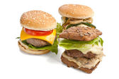 Tasty fresh cheeseburgers — Stock Photo