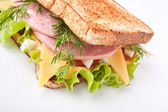 Big sandwich — Stock Photo