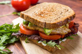 Bacon, Lettuce and Tomato BLT Sandwiches — Stock Photo