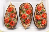 Stuffed eggplants — Stock Photo