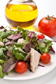 Salad mix with chicken — Stock Photo