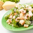 Traditional caesar salad with shrimp — Stock Photo #42004437