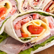 Wrapped tortilla sandwich rolls — Stock Photo #42006901