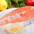 Fresh salmon steak — Stock Photo #42007371