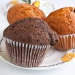 Group of three muffins — Stock Photo