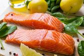 Raw Salmon Fillet — Stock Photo
