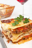 Classic beef lasagna — Stock Photo
