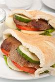 Pita bread sandwich — Stock Photo