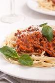Pasta with tomato souse — Stock Photo