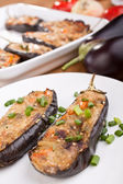 Stuffed aubergines — Stock Photo