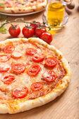 Margerita pizza — Stock Photo