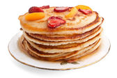 Stack of pancakes with syrup — Stok fotoğraf