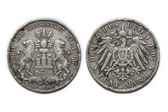 Silver coin 5 Mark 1907 — Stock Photo
