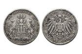 Silver coin 5 Mark 1907 — Stock Photo