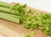 Chopped celery — Stock Photo