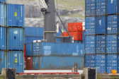 Containers in port, Canada. — Stock Photo