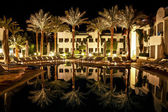 Hotel in Egypt at night. — Stock Photo