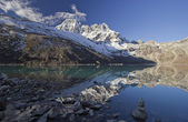 Beautiful mountain view of Everest Region. — Stock Photo