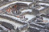 Marpha aldea de montaña en el himalaya, nepal. — Foto de Stock