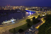 Szczecin (Stettin) City at night, Poland.  — Stockfoto