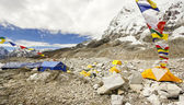 Tents in Everest Base Camp, Himalayas, Nepal. — Stock Photo