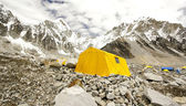 Tents in Everest Base Camp, Himalayas, Nepal. — Stockfoto