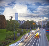 Highway in Warsaw — Stock Photo