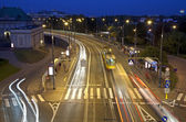 City by night, highway in Warsaw. — Stock Photo