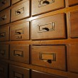 Old wooden card catalog — Stock Photo #41984761