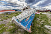 Old boat with peeling paint. — Foto de Stock