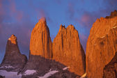 Towers in Torres del Paine National Park, Chile. — Stock Photo