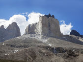 Incredible rock formation of Los Cuernos in Chile.  — 图库照片