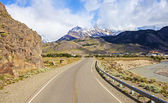 Road to El Chalten in Argentina. — Stock Photo