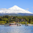 Stock Photo: Snow covered Volcano Villarica, Chile
